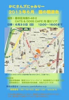 2013年6月にゃみりー譲渡会ポスター.jpg